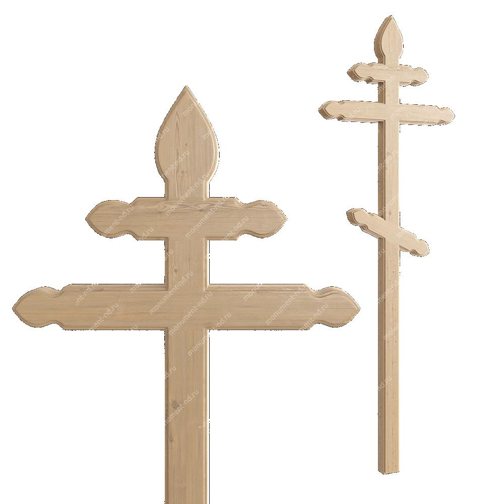 Деревянный крест на могилу ДкС - 012