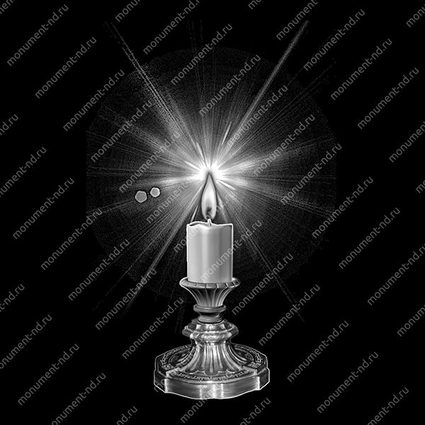 Гравировка свечи С-015