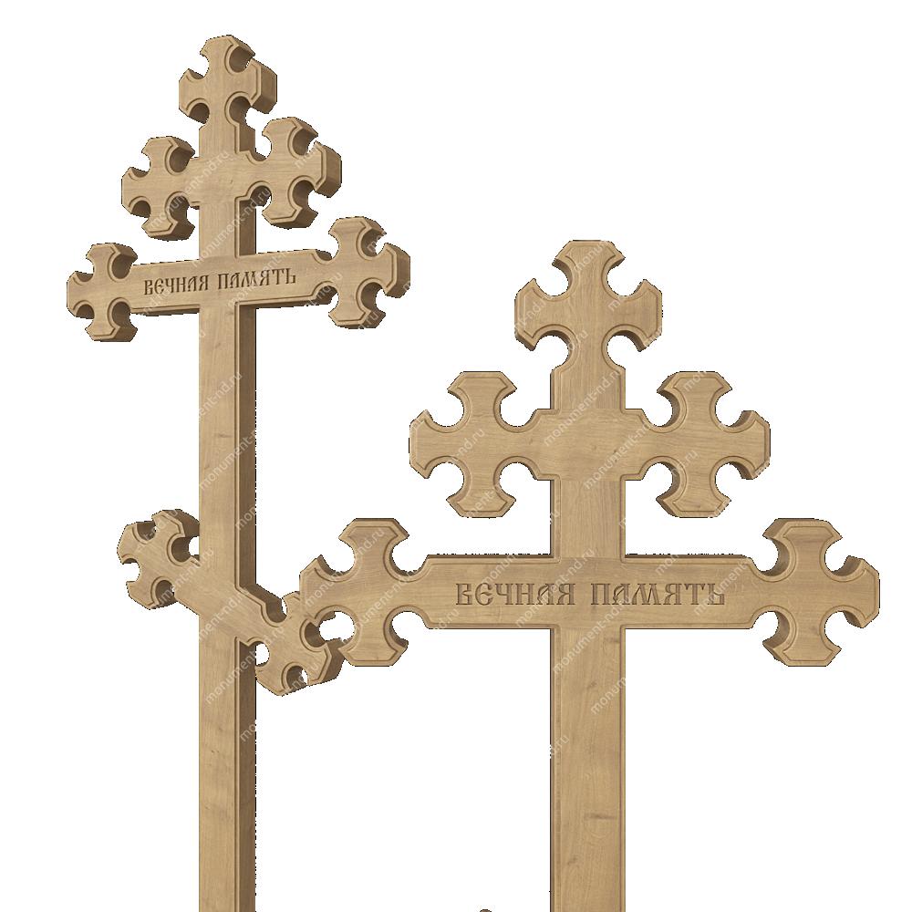 Деревянный крест на могилу ДкД - 010