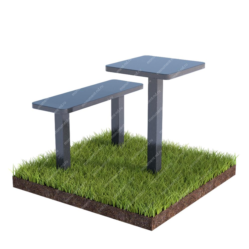 Столик  из гранита на могилу Л-016