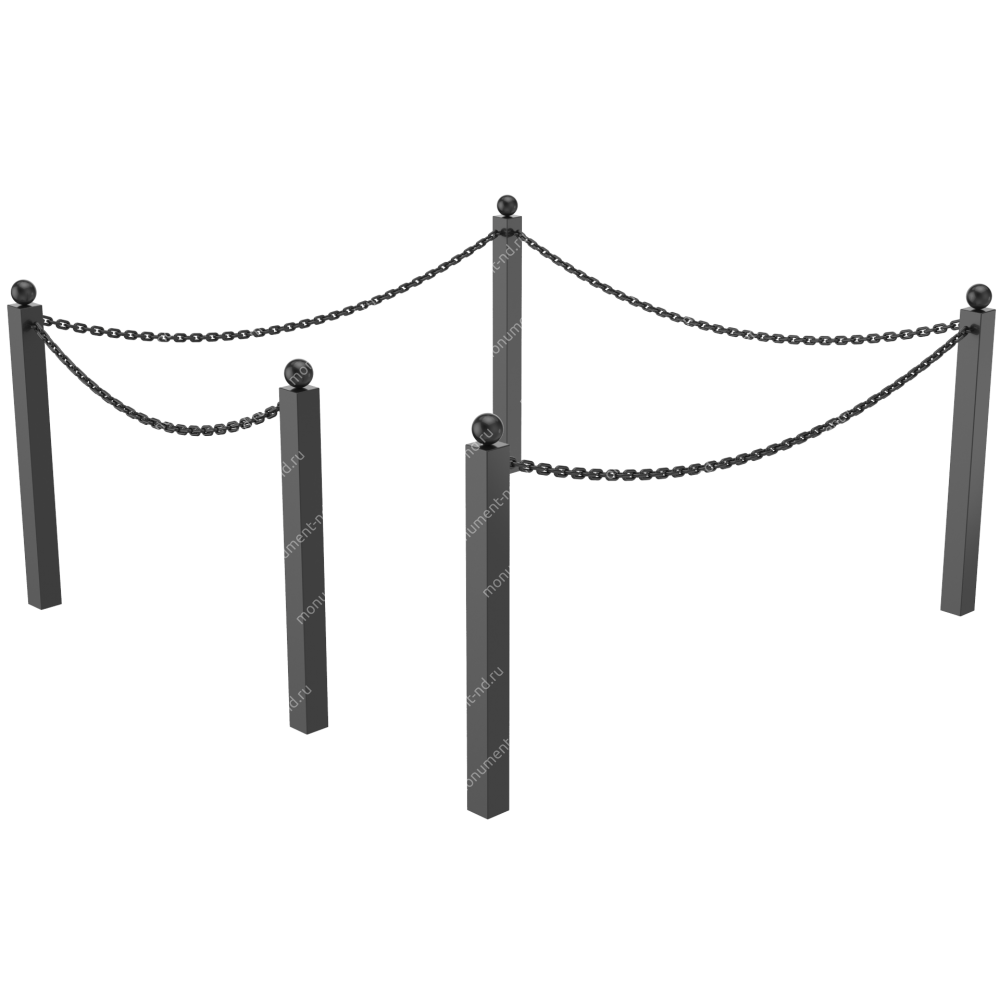 Ограда с цепью ОЦ-01