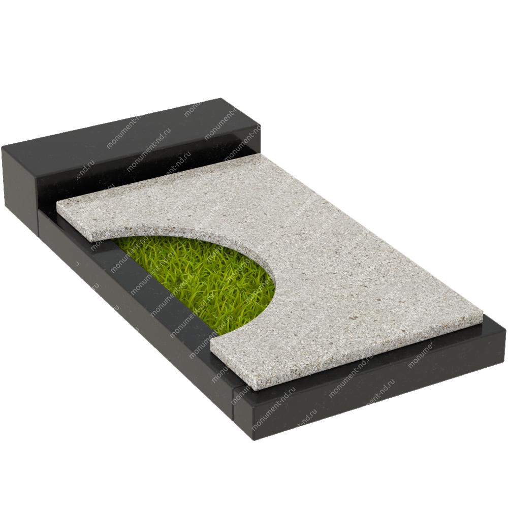 Накладная плита на цветник Цвт-013