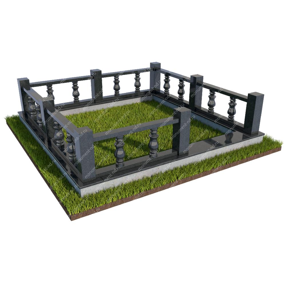 Гранитная ограда ГО-022