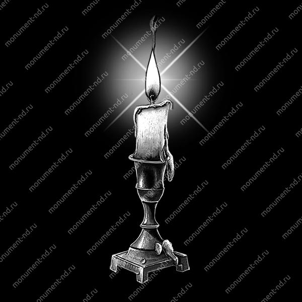 Гравировка свечи С-009