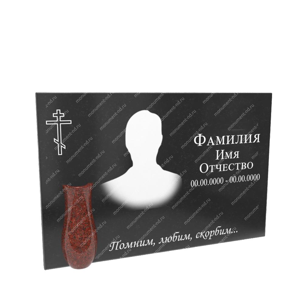 Гранитная табличка на могилу Т-012 Размер: 40х60х2 см.