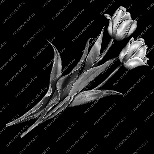 Гравировка цветы Цв-006