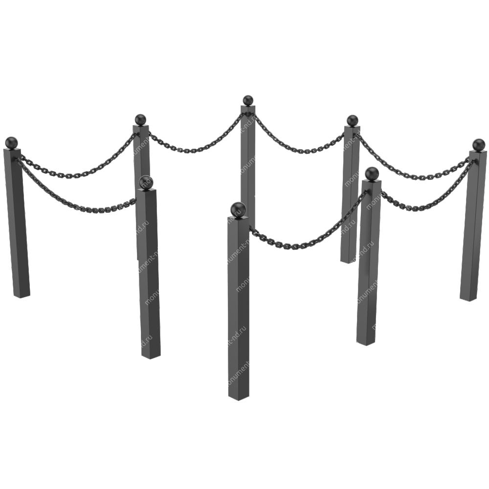 Ограда с цепью ОЦ-03