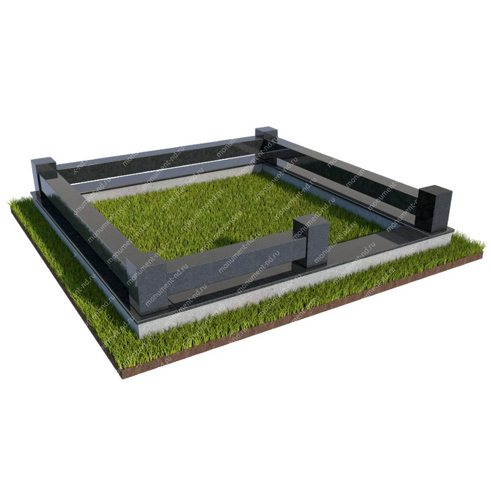 Гранитная ограда ГО-024