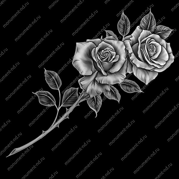 Гравировка цветы Цв-001
