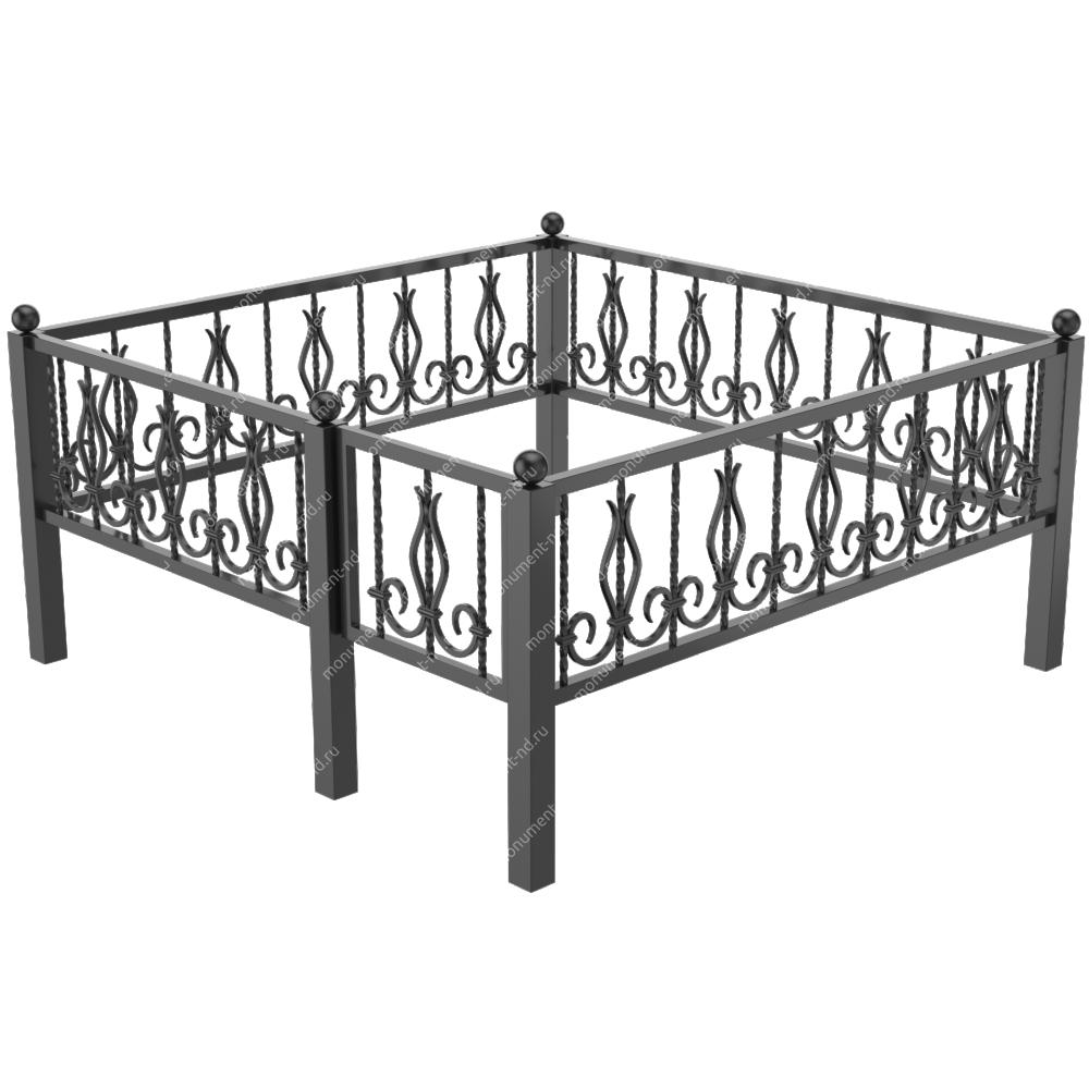 Металлическая ограда - 02