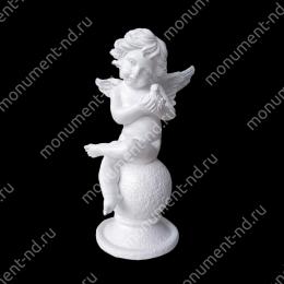 Ангел на памятник А-007  полимергранит цвет белый/бронза 60(ǿ 23) см.
