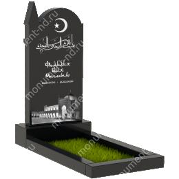 Мусульманский памятник М - 26 гранит цвет черный 100*50*5