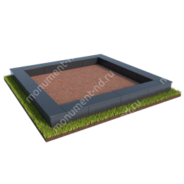 Бетонный цоколь на могилу БЦ-001_3 # 200х180 см