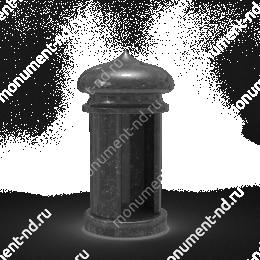 Лампада на могилу-006 гранит цвет черный 35х15 см