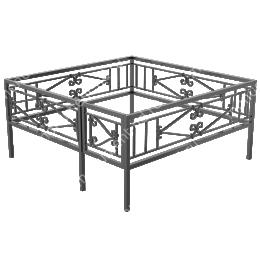Ограда кованная ОК-25 200х180 см