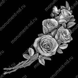 Гравировка цветы Цв-021 32 х12 / ≤ 40х60 см