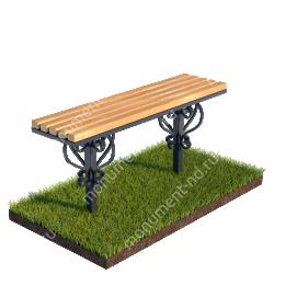 Стол и лавочка Л-010 80х100х30 см