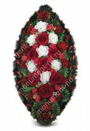 Венок стандартный - 41 полимер,текстиль от 90 см