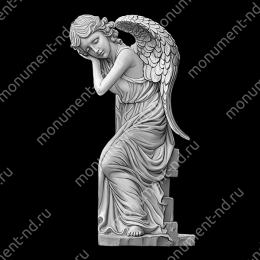 Гравировка ангела А-024 от 25х25 см