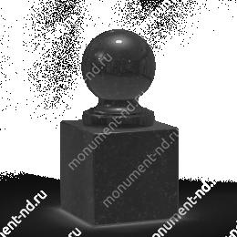 Шар из гранита Ш-008 гранит цвет чёрный/красный/серый от ø 10 см
