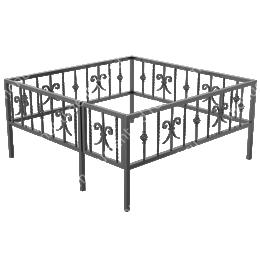 Кованая ограда К-10 200х180 см