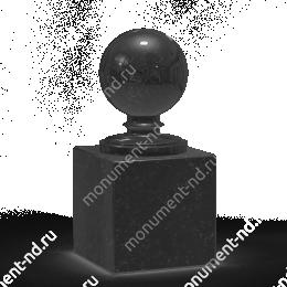 Шар из гранита Ш-005 гранит цвет чёрный/красный/серый от ø 10 см