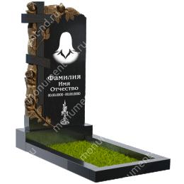ПБ-31 Памятник с барельефом гранит габбро цвет черный 120*60*8