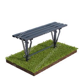 Лавочка  на могилу Л-017 80х100х30 см