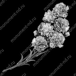 Гравировка цветы Цв-020 32 х12 / ≤ 40х60 см