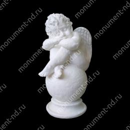 Ангел на памятник А-010   полимергранит цвет белый/бронза 60 см.