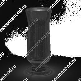 Ваза на могилу из гранита-010 гранит цвет черный 40х15 см