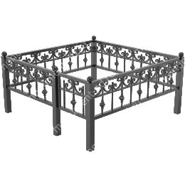 Металлическая ограда - 08