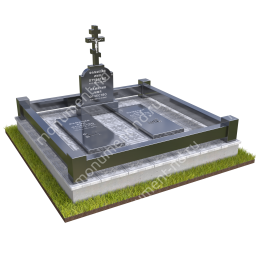 """Мемориальный комплекс Ц - 007 """"Под ключ"""" 200х180 см"""