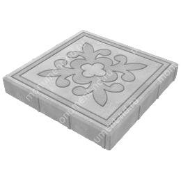 Тротуарная плитка на могилу ТП-09 цвет серый 1 кв.м.