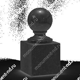 Шар из гранита Ш-004 гранит цвет чёрный/красный/серый от ø 10 см
