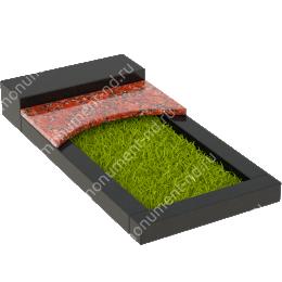 Накладная плита на цветник Цвт-009  цвет 4 варианта 3х60х35 см.