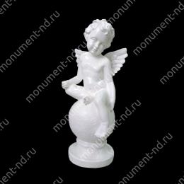 Ангел на памятник А-013   полимергранит цвет белый/бронза 35 см.