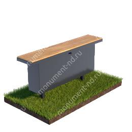 Стол и лавочка Л-008 100х20 см/ 80х30х18
