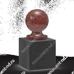 Шар из гранита Ш-009 гранит цвет красный/серый от ø 10 см