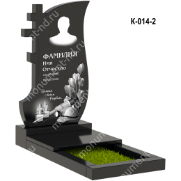 Надгробная плита - 014 гранит 100*50*8