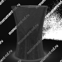 Ваза на могилу из гранита-019 гранит цвет черный/красный/серый 30х15 см