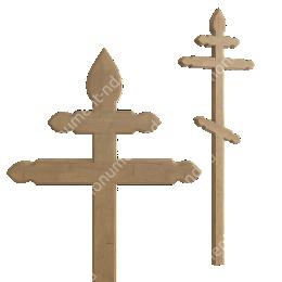 Деревянный крест на могилу ДкД - 012 дуб 210х70х5 см