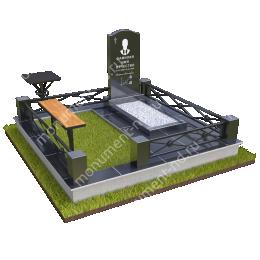 """Мемориальный комплекс Ц-012 """"Под ключ"""" 200х180 см"""