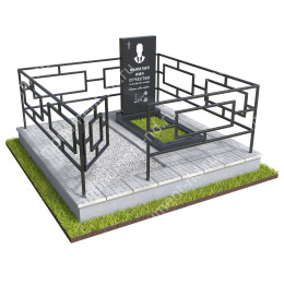"""Мемориальный комплекс Ц - 058 """"Под ключ"""" 200х180 см"""