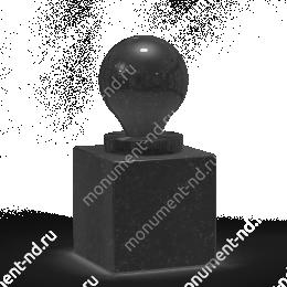 Шар из гранита Ш-001 гранит цвет чёрный/красный/серый от ø 10 см