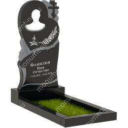 ПБ-16 Памятник с барельефом цвет черный 100*60*8