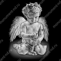Гравировка ангела А-005 от 25х25 см