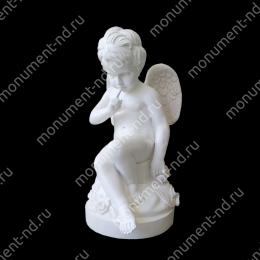 Ангел на памятник А-009   полимергранит цвет белый/бронза 75(ǿ 35) см.