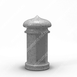 Лампада на могилу-006С гранит/металл/стекло цвет серый 35х15