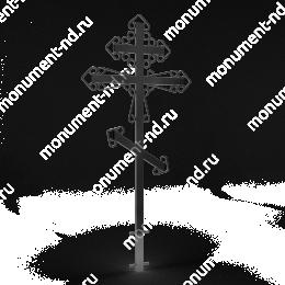 Крест на могилу Кр-008   металл 200х70 см